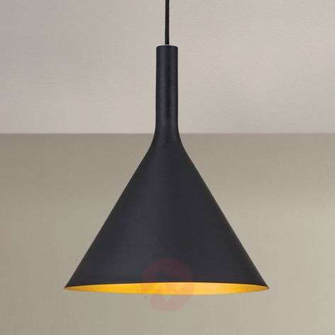Black outside, gold inside - pendant light Gunda