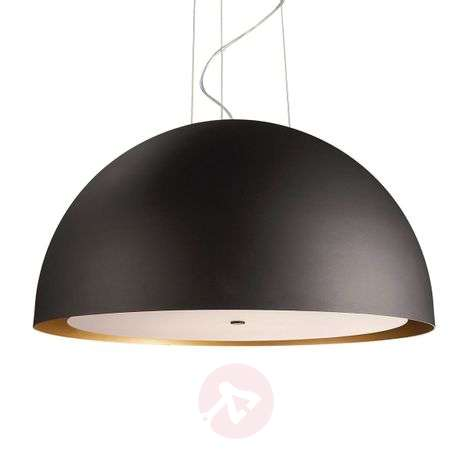 Black pendant light Skive, 70 cm