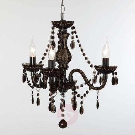 Black Perdita chandelier, three-light