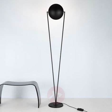 Black pivotable LED floor lamp Victory