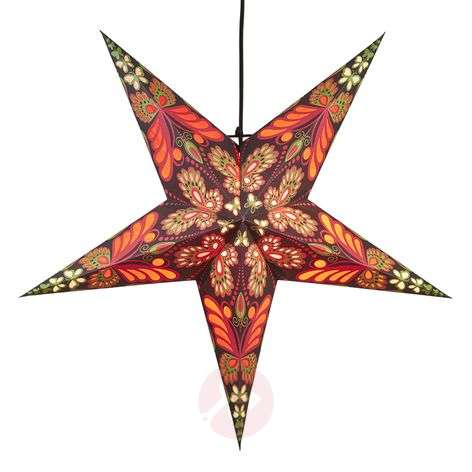 Blaze paper star, 5-pointed, patterned