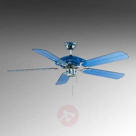 Blue Angel ceiling fan, blue with LED light