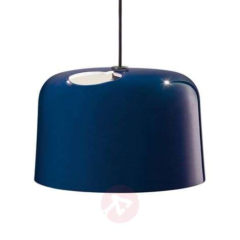 Blue glossy ceramic hanging light Add