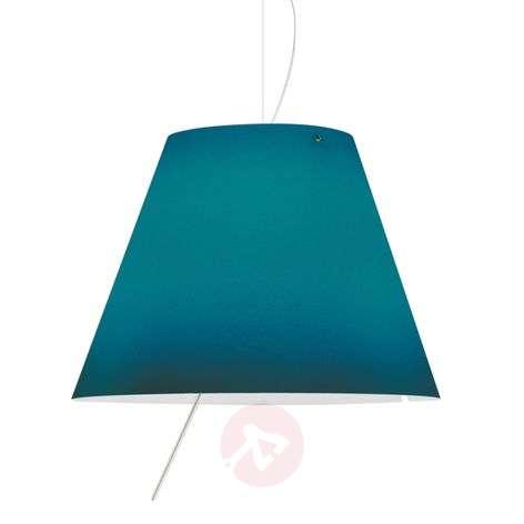 Blue LED pendant light Constanza Height-adjustable