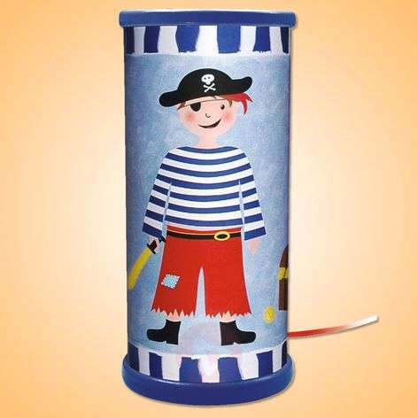 Blue Pirate LED table lamp