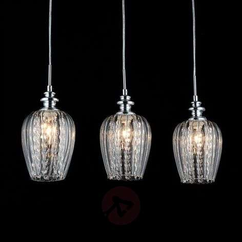 Blues hanging light with three glass shades-6727104-31