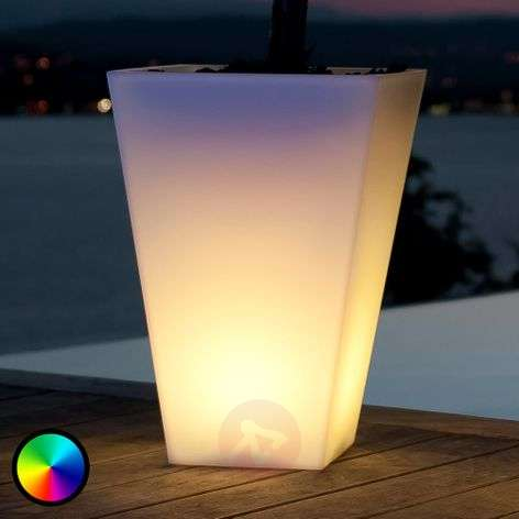 Bluetooth-controllable LED flower pot Rumba 50 cm