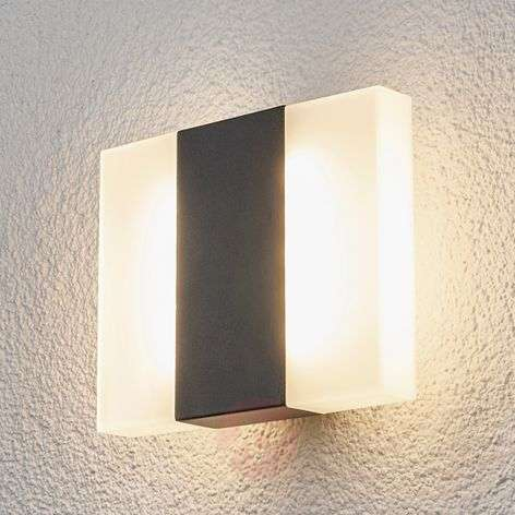 Börje - LED outdoor wall light in a square shape