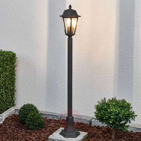 Bollard lamp Lamina in rust finish