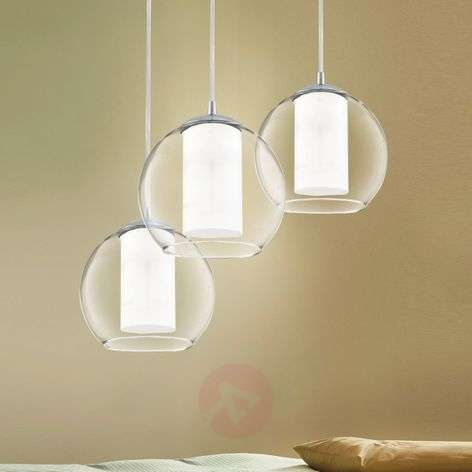 Bolsano - 3-bulb glass hanging light