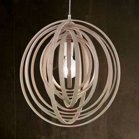 Boolan pendant lamp with a light grey lampshade