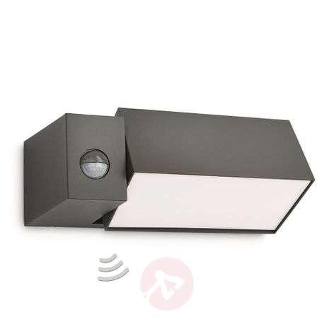 Border anthracite outside wall light motion sensor
