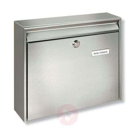 Borkum stainless steel letter box