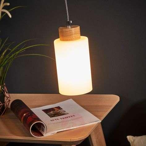 Bosco hanging light, oiled oak, 1-bulb