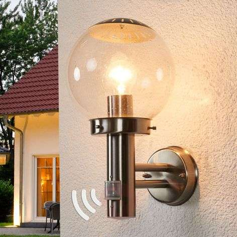 Bowle Exterior Wall Lamp with Motion Detector-4014262-34