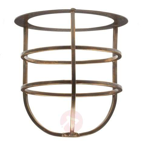 Brass basket for outdoor wall lights