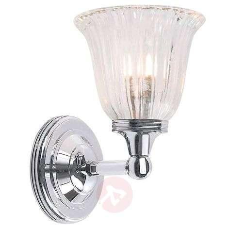 Brass bathroom light Austen chrome