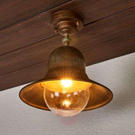 Brass ceiling light Marquesa for outdoors