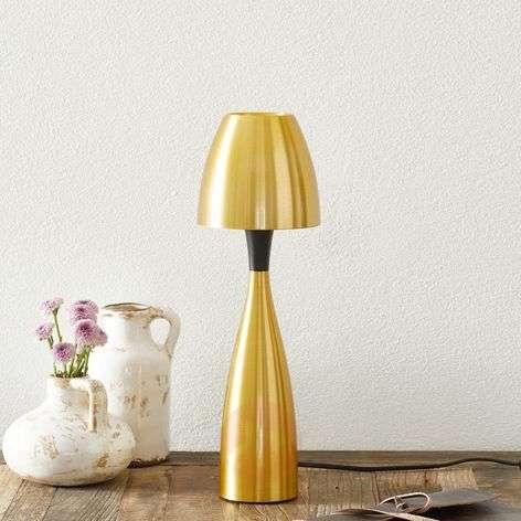 Brass-coloured LED table lamp Anemon, 38.9cm