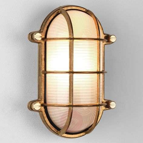 Brass-coloured Thurso Oval outdoor wall light-1020582-31