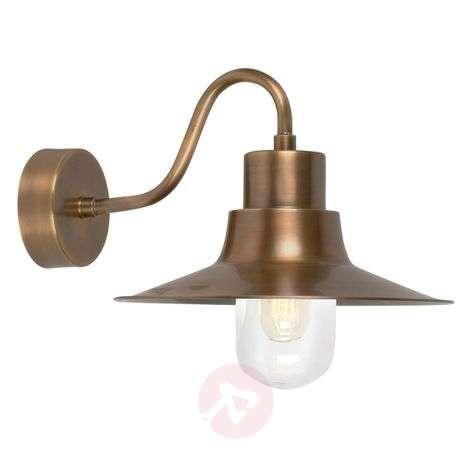 Brass outdoor wall lamp Sheldon