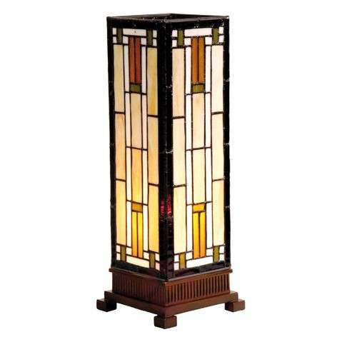Bridget - a table lamp in cream and amber