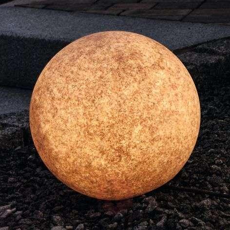 Bright decorative ball Mundan, 30 cm, terracotta