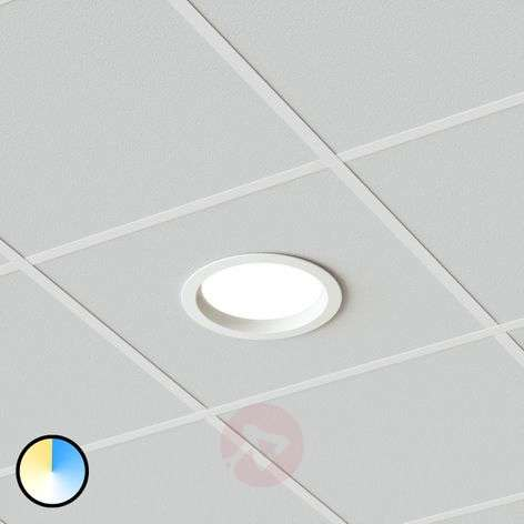 Bright LED downlight Piet, 36W, 3 luminous colours