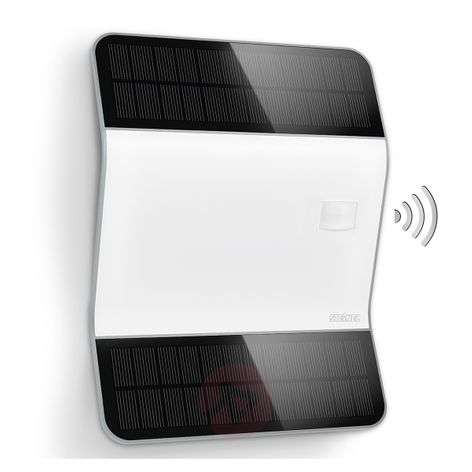 Bright X-Solar L2-S LED house number light, silver