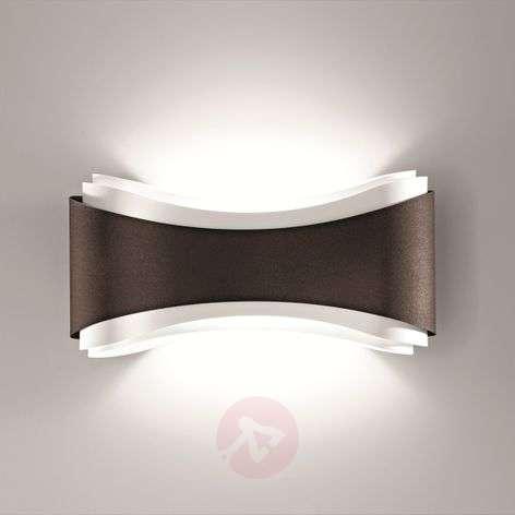 Bronze-coloured designer wall light Ionica