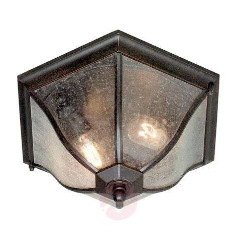 Bronze-coloured outdoor ceiling lamp New England