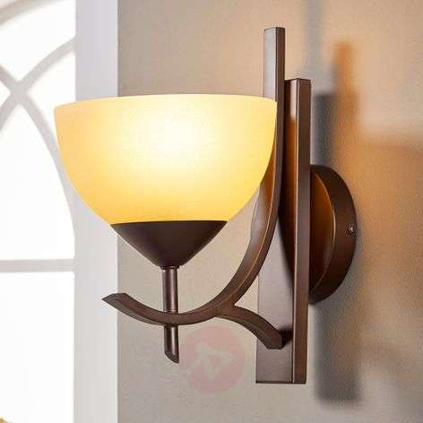 Bronze-coloured wall light Janos
