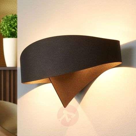 Bronze designer wall light Scudo