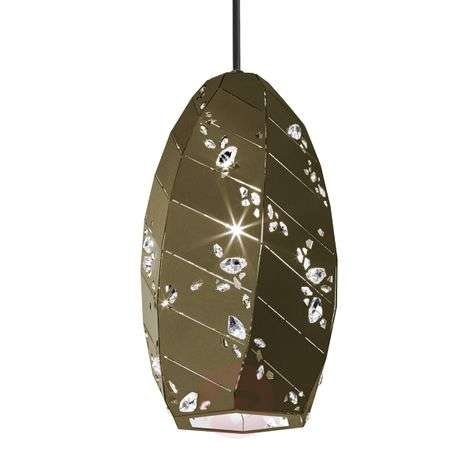 Bronze-golden shimmering Apta hanging light, 15 cm