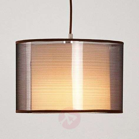 Brown fabric pendant light Jasna with an E27 LED