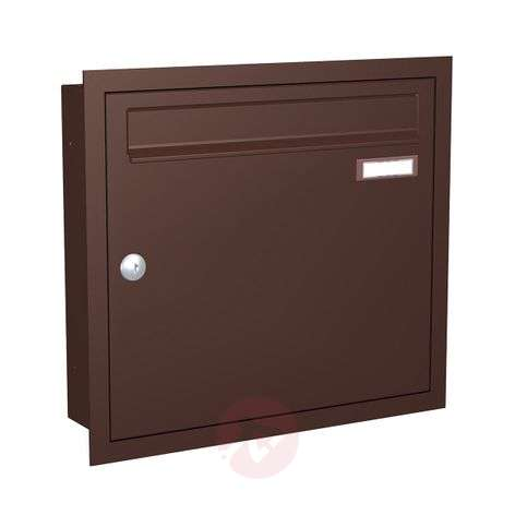 Brown flush-mounted letterbox Express Box Up 110