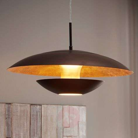 Brown-gold-painted hanging light Nuvano-3031942-31