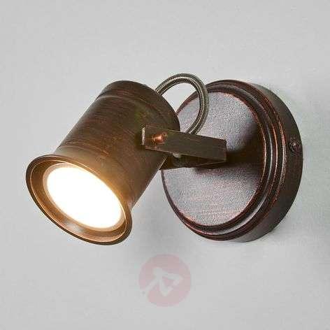 Brown-golden spotlight Cansu, GU10 LED