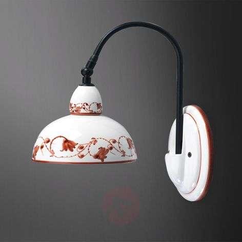 Brown-patterned ceramic wall light Murano II