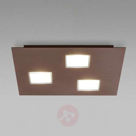 Brown Quarter ceiling light with 3 LEDs