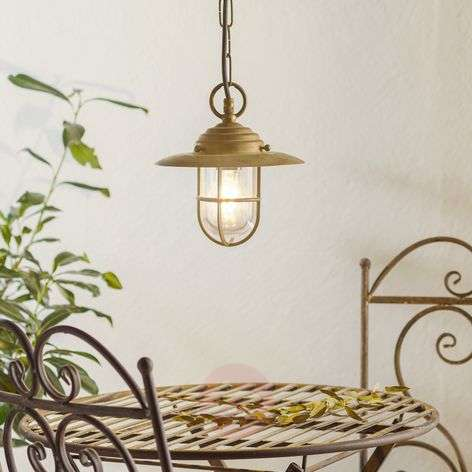 Bruno stylish hanging light for outdoors