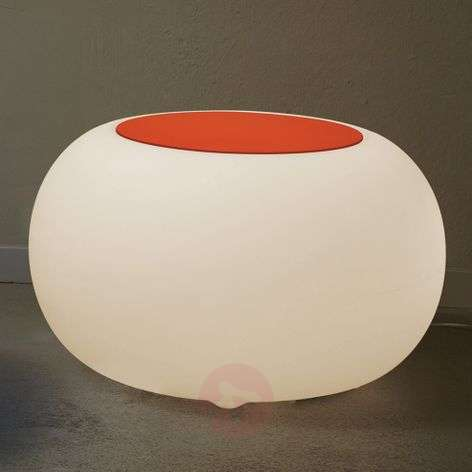 Bubble LED BATTERY Outdoor Table orange felt cover