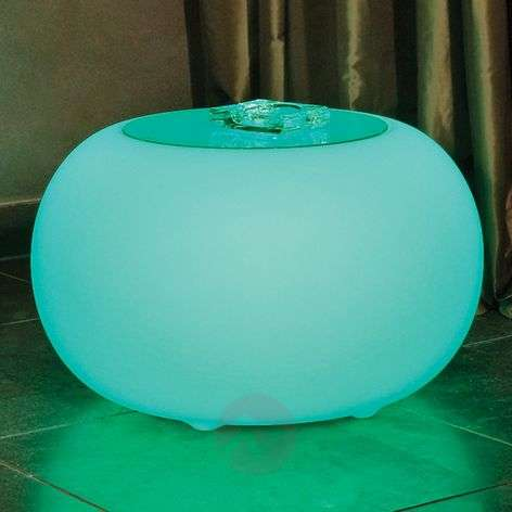 Bubble LED BATTERY Outdoor table with glass panel-6537083-31