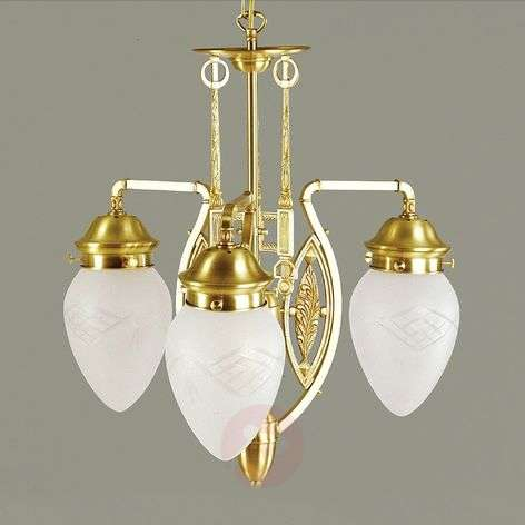 Budapest Chandelier with Satined Glasses
