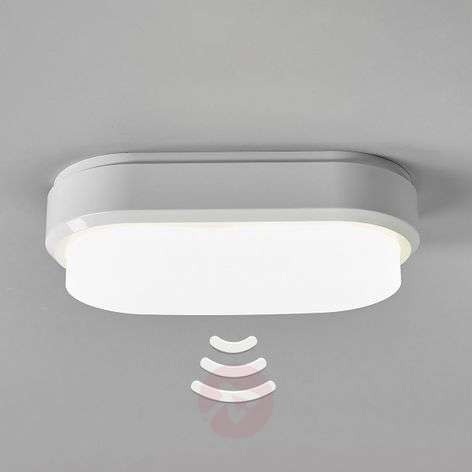 Bulkhead - oval LED ceiling lamp with sensor