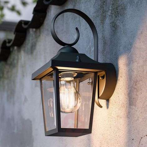 Buzzard myGarden - black outdoor wall lamp