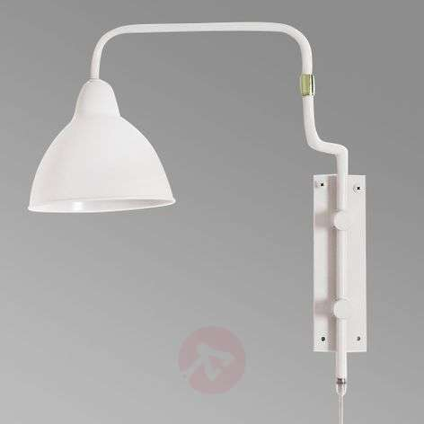 By Rydéns Brighton wall lamp with cable, white