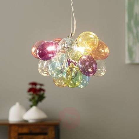 By Rydéns Gross glass hanging lamp, colourful