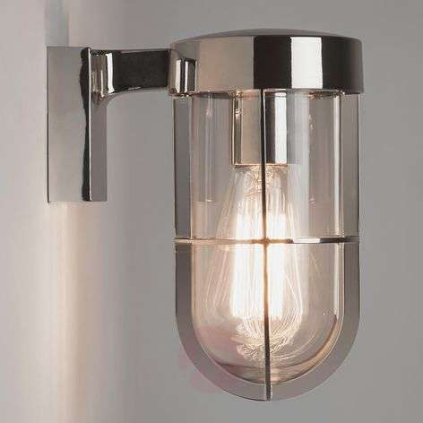 Cabin Wall outdoor wall light, polished nickel