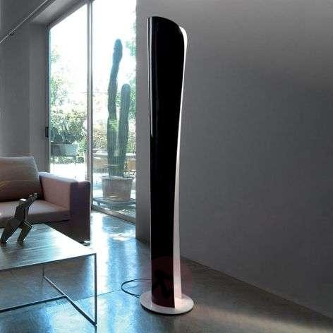 Cadmo black-white LED floor lamp, 2,700 K